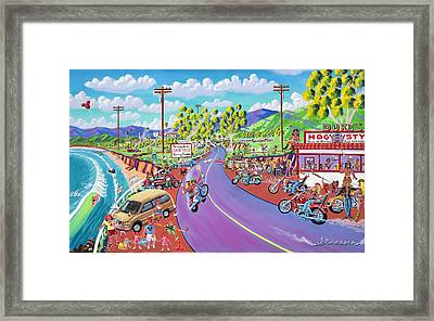 Up The Coast Framed Print by Frank Strasser