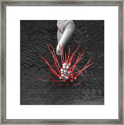 Up To Her Knees In Wetness Framed Print by Andy Frasheski