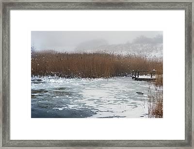 Upon A Frozen Pond. Framed Print