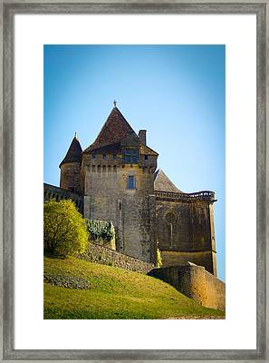 Upon A Hill - Biron Castle Framed Print