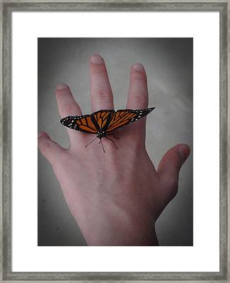 Upon My Hand Framed Print