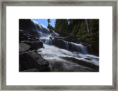 Upper Big Heart Fall Framed Print