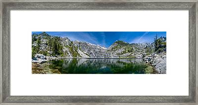 Upper Canyon Creek Lake Panorama Framed Print