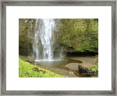 Upper Cascade Pool Multnomah Falls Or Framed Print