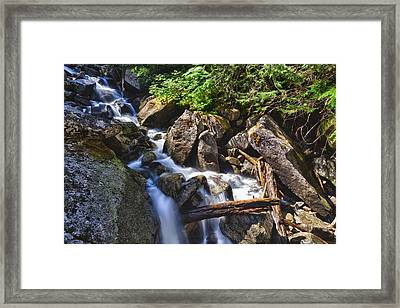 Upper Cascades Of Malchite Creek Framed Print