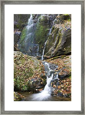 Upper Dark Hollow Falls In Shenandoah National Park Framed Print by Pierre Leclerc Photography