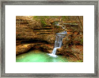 Upper Falls From The Top Framed Print by Shirley Tinkham