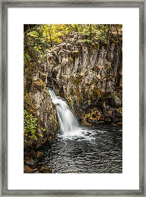 Framed Print featuring the photograph Upper Falls Mccloud River by Randy Wood