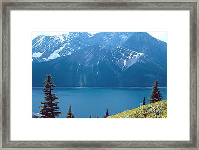 Upper Kananaskis Lake Framed Print by Jim Sauchyn
