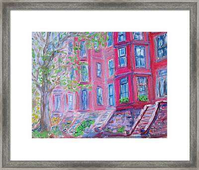 Upper West Side Brownstones Framed Print