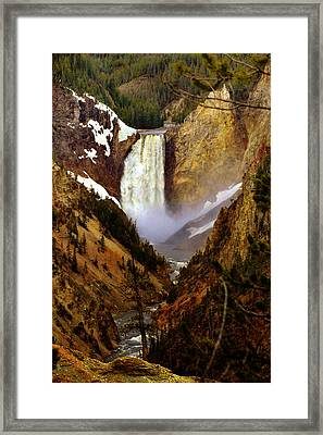 Upper Yellowstone Falls Framed Print by Ellen Heaverlo