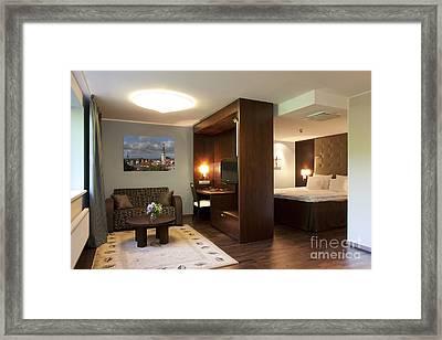 Upscale Hotel Room Framed Print