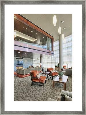 Upscale Modern Lobby Framed Print