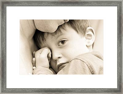 Upset Child Framed Print
