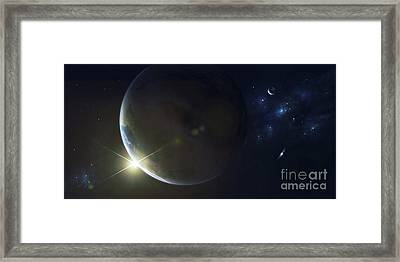 Upsilon Is Another Sun Like Our Own Framed Print by Kevin Lafin