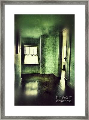 Upstairs Hallway In Old House Framed Print by Jill Battaglia