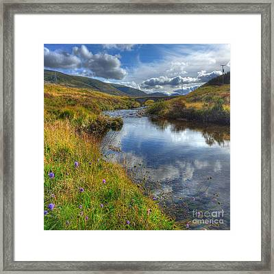 Upstream To The Bridge Framed Print by John Kelly