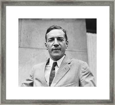 Upton Sinclair 1879-1968 American Framed Print by Everett