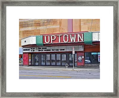 Uptown Theatre Framed Print by David Ritsema