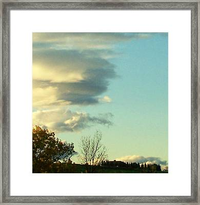 Upward Clouds Framed Print