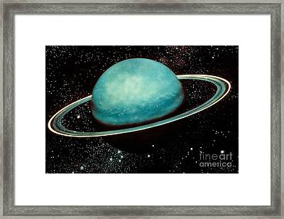 Uranus With Its Rings Framed Print