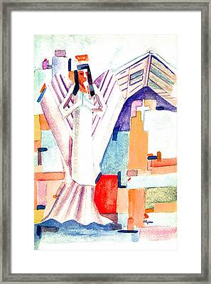 Framed Print featuring the painting Urban Angel Of Light by Paula Ayers