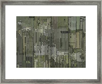 Urban Core 2 Framed Print by Tim Allen