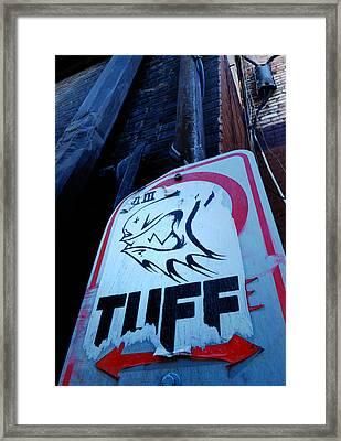 Urban Cover-up Framed Print
