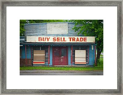 Urban Decay Storefront Framed Print by Sonja Quintero