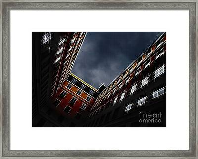 Urban Drawing Framed Print by Hannes Cmarits