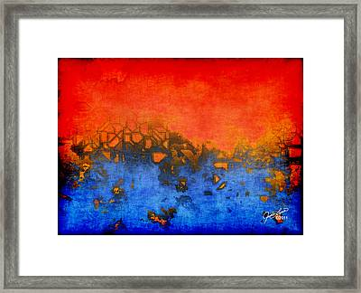 Urban Heat Framed Print