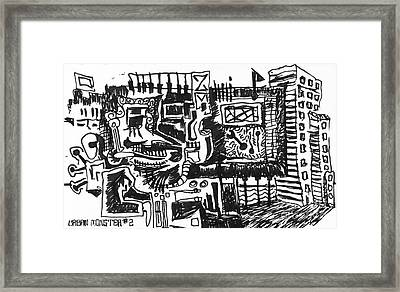 Urban Monster 2 Framed Print by Mack Galixtar