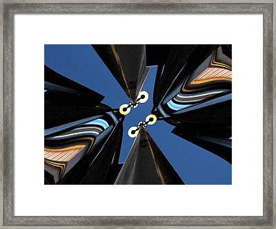 Urban Night Lights Framed Print by Tim Allen