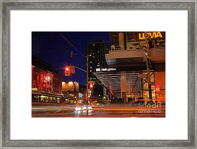 Urban Nightlife Framed Print