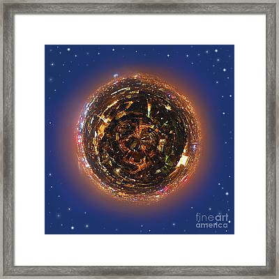 Urban Planet Framed Print by Elena Elisseeva