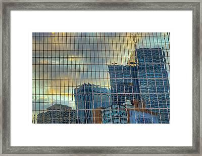 Urban Reflections Framed Print by Drew Castelhano