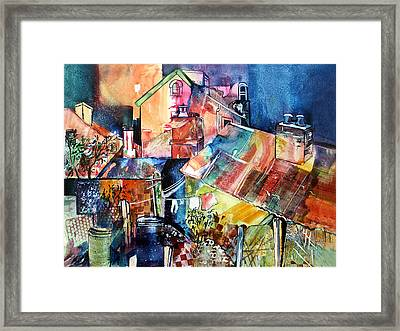 Framed Print featuring the painting Urban Sprawl 1 by Rae Andrews