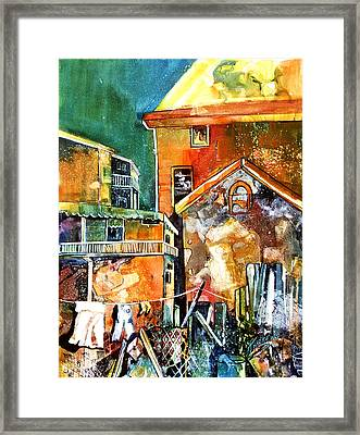 Framed Print featuring the painting Urban Sprawl 2 by Rae Andrews