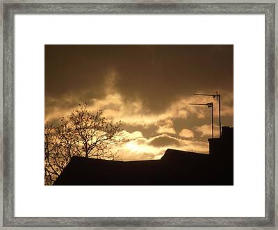 Framed Print featuring the photograph Urban Sunset In April 2012 by Martin Blakeley