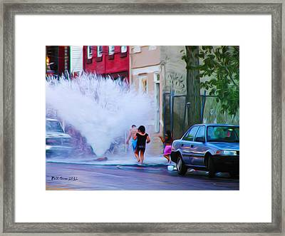 Urban Waterpark Framed Print by Bill Cannon