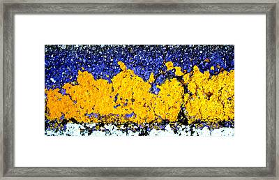 Urban Yellow Trees Framed Print