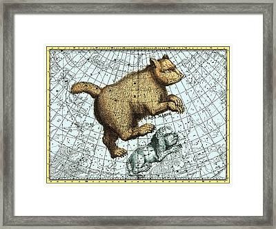Ursa Major Constellation, Bode Star Atlas Framed Print by Detlev Van Ravenswaay