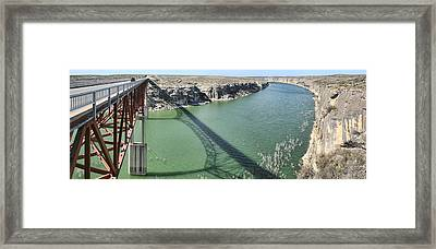 Us 90 Bridge Over Pecos River Framed Print