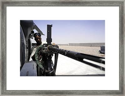 U.s. Air Force Airman Performing Framed Print by Stocktrek Images