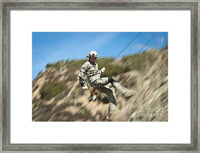 U.s. Air Force Airman Practices Framed Print by Stocktrek Images