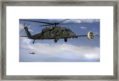 U.s. Air Force Hh-60 Pave Hawks Conduct Framed Print by Stocktrek Images