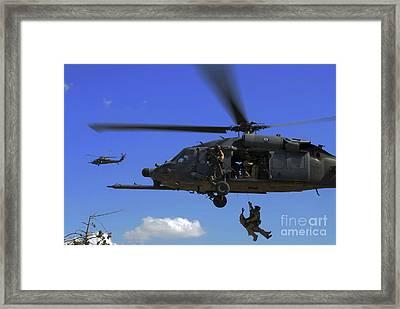 U.s. Air Force Pararescuemen Framed Print by Stocktrek Images