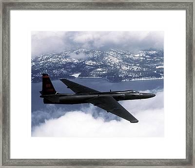 Us Air Force U-2 High-altitude Framed Print