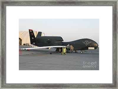 U.s. Airmen Conduct Preflight Services Framed Print by Stocktrek Images