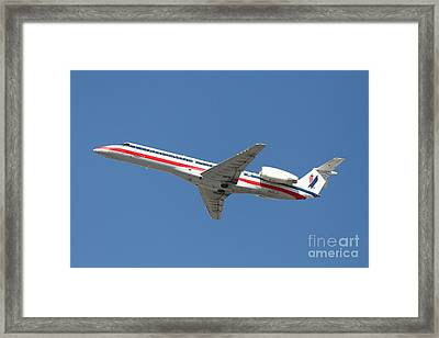 Us Airways Jet Airplane  - 5d18405 Framed Print by Wingsdomain Art and Photography